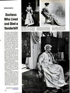"Consuelo Vanderbilt | ""Duchess Who Lived and Died a Vanderbilt,"" LIFE (18"