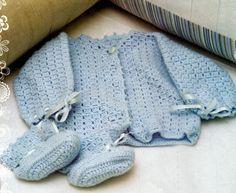Crochet Baby : Casaquinho de croche para bebe