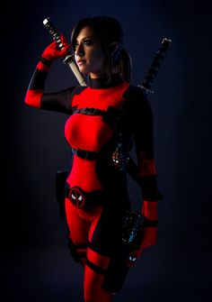 Don't Mess With Lady Deadpool, Deadpool cosplay by Samira., Photos by ?