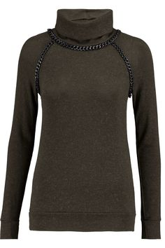 BAILEY 44 CHAIN-TRIMMED KNITTED TURTLENECK SWEATER £112.50 http://www.theoutnet.com/product/875050
