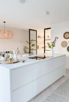Open Plan Kitchen Diner, Open Plan Kitchen Living Room, Living Room Modern, Home Decor Kitchen, Kitchen Interior, Home Kitchens, Home Design, Home Interior Design, Room Inspiration