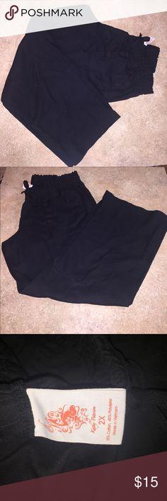 KOI SCRUB PANTS!!!!!!!!❤️ Black elastic/drawstring waist size 2X Other
