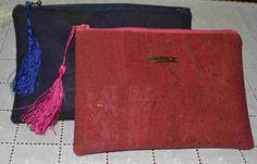 Bolsa cortiça/Bolsa maquilagem/bolsa tecido / by artgifts4you