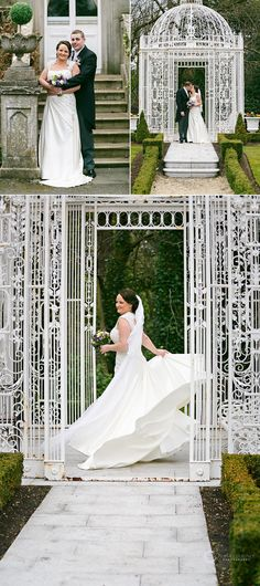 This personal and beautiful Wedding took place at Finnstown Castle Hotel. The ceremony, photos and reception were all in one location Humanist Wedding Ceremony, Gazebo, Wedding Photos, Groom, Reception, Castle, Bride, Wedding Dresses, House