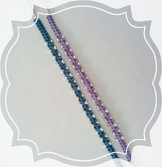 Bracciale in macrame con  perline argentate  https://www.facebook.com/zeudicreazioni