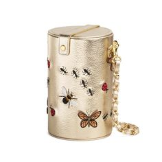 pepfer bag. insects, embroidery, butterflies, ants, gold, fly, ladybug