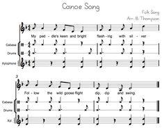 Canoe Song Orff ensemble