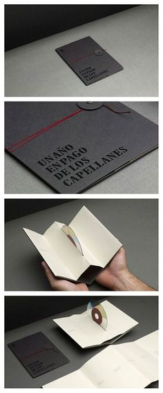 CD Packaging by [unknown] Beautiful and functional CD packaging made from recyclable materials. recyclable functional CD packaging product design