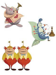 ✶ Alice In Wonderland characters by Kortney Greer ☕️★