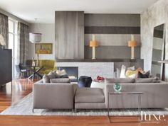 Gray Contemporary Living Room with Sofa