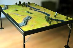volcanic lava gaming table built it in 2009 tabletop wargaming