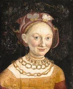 Hans Krell,1532 Portrait of Princess Emilia of Saxony
