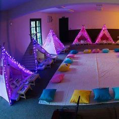 Slumber party with light up tents! Bring the sparkle to any birthday party or kids activity with the most magical Fairy Party and Craft Ideas!
