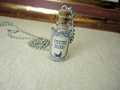 PHOENIX BLOOD 2ml Glass Vial / Bottle Necklace. $11.99+ on #Etsy by #RedQueenMisc