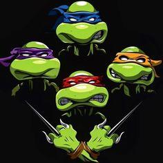 """""""Turtle Rhapsody"""" by Aaron Morales Teenage Mutant Ninja Turtles in the style of Bohemian Rhapsody Ninja Turtles Art, Teenage Mutant Ninja Turtles, Ninja Turtle Tattoos, Turtle Images, Geek Culture, Pop Culture, Cultura Pop, Alice, Geek Stuff"""