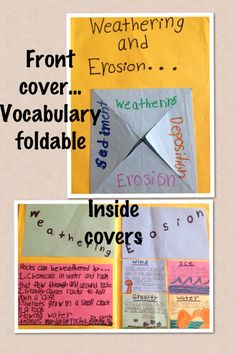Weathering and Erosion Foldable - I love that kids can interact and be doing things instead of just listening to a lecture. Making a foldable with new terms they need to be familiar with will interact them more and keep them entertained. I see myself making my students do foldables in my class.