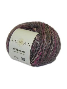 Silkystones - Rowan Silkystones is a melange of toussah silk and linen, and each shade is a soft subtle blend of shades. Soft to the touch and with the light silken sheen of wet stones (hence the name) this yarn sits at the heart of our Spring Summer season.