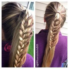 Side braided ponytail
