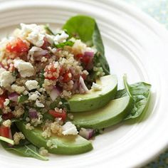 Greek Quinoa and Avocados From Better Homes and Gardens, ideas and improvement projects for your home and garden plus recipes and entertaining ideas.