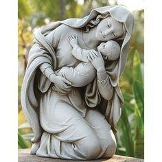 Found it at Wayfair - Kneeling Madonna And Child Statue