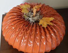 DIY ~ Dryer Vent Pumpkins