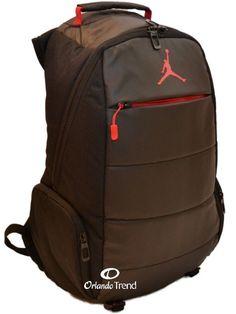 "Nike Air Jordan Backpack 15"" Laptop Post Game Black Red Bag School Men Women #Nike #Backpack #Jordan #Jumpman #OrlandoTrend #Basketball"