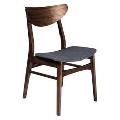 Dirk Dining Chairs - Walnut And Gray (Set Of 2) - Aeon