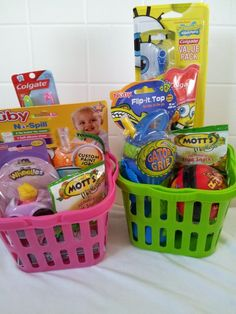 Easter Basket Ideas For Toddlers And Babies Goodies To Put In Their Baskets That Are