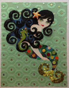 It's not your Grandmother's Needlepoint. Like the background stitches.