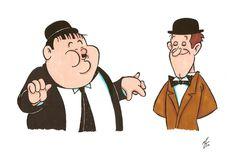 Laurel and Hardy by zombiegoon.deviantart.com on @DeviantArt