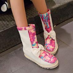 26.95$  Buy here - https://alitems.com/g/1e8d114494b01f4c715516525dc3e8/?i=5&ulp=https%3A%2F%2Fwww.aliexpress.com%2Fitem%2F2014-women-winter-snow-boots-warm-flat-heel-solid-bowknot-snow-boots-Ankle-Platform-Mid-calf%2F32498950310.html - 2014 women winter snow boots, warm flat heel solid bowknot snow boots, Ankle Platform Mid-calf shoes size 36-42 XY181