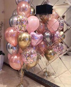 Rose Gold Balloons, White Balloons, Wedding Balloons, Helium Balloons, Confetti Balloons, Confetti Cake, Hen Party Decorations, Birthday Balloon Decorations, Birthday Balloons
