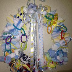 Baby shower wreath! :-)