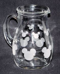 MICKEY MOUSE GLASS Creamer to go with your by WINDSOFCHANGE100