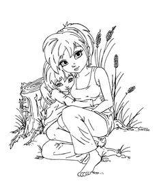 Part of the Fan Arts Cutie Pie Serie This lineart was made for She asked for her OC, Young Summer (who will become Super Chick) and her mom. Posing ref:[link] To see more Cutie Pie: