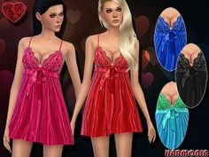 The Sims Resource: Flyaway Pleated Babydoll by Harmonia • Sims 4 Downloads