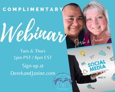 """Come Discover The Benefits Of Working In The Online Space. Learn How to Start A Global Internet Based Business. 💥🌎💥🌎💥🌎💥🌎💥🌎💥 """"LIVE"""" complimentary webinar (Tuesday & Thursday) 🖥📱 5pm PST/8pm EST. Sign up at ⬇️⬇️⬇️ www.derekandjanine.com Replay available anytime! We look forward to hearing from you! Cheers! Derek & Janine #DerekandJanine #DJGetLivingNow #StartLivingYourBestLifeNow #DreamBigLiveBigger #LaptopLifestyle #DigitalBusiness #AskUsHow #TakeActionNow Your Best Life Now, Replay, Online Work, Dream Big, Cheers, Thursday, Workshop, Internet, Sign"""