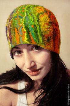 """Шапка валяная """"ЯРКАЯ"""" - шапка,шапочка,войлочная шапка,Валяная шапочка"""
