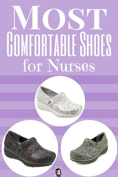 These nursing shoes are SO comfy and come in so many different styles - Most Comfortable Shoes for Nurses