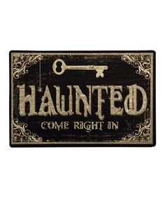 Take a look at this 'Haunted' Home Doormat by Mohawk Home on #zulily today!