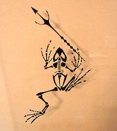Frog bones with Trident