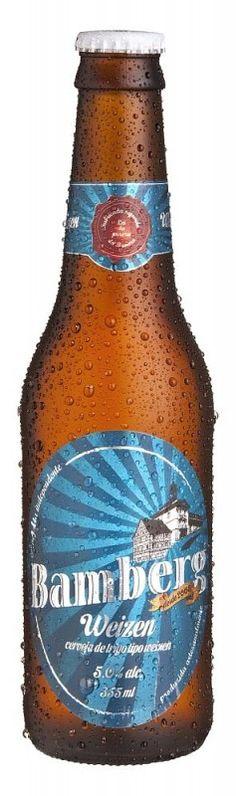 Cerveja Bamberg Weizen, estilo German Weizen, produzida por Cervejaria Bamberg, Brasil. 4.8% ABV de álcool.