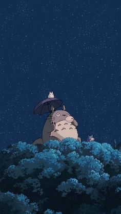 Cartoon Wallpaper, Anime Scenery Wallpaper, Cute Anime Wallpaper, Amazing Wallpaper, Wallpaper Art, Wallpaper Lockscreen, Iphone Wallpaper Totoro, Winter Wallpaper, Studio Ghibli Films