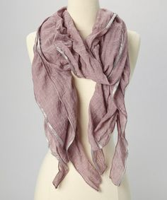 Love this Rose & Silver Metallic Ruffle Scarf on #zulily! #zulilyfinds