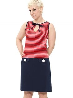 Coconut Dress, red striped