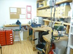 My workshop - where I make the commissions, do the repairs and play (sometimes! Bead Shop, Amy, Workshop, Oxford, Desk, How To Make, Furniture, Shopping, Home Decor