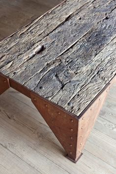 table with wood and iron by #Cousaert