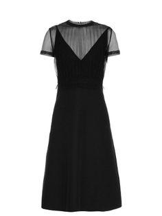 Gathered-tulle and crepe dress | Valentino | MATCHESFASHION.COM UK