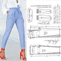 """sewing clothes patterns Tully Pant Sewing Pattern By Style Arc - slim leg elastic """"paper bag"""" waist pant. This is a fabulous slim leg elastic paperbag pant by Style Arc. Sewing pattern for women in sizes 16 Tully Paperbag Pant – Sizes 20 – PDF sti Diy Clothing, Clothing Patterns, Dress Patterns, Shirt Patterns, Sewing Pants, Sewing Clothes, Barbie Clothes, Fashion Sewing, Diy Fashion"""