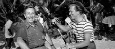 Walt Disney and Kirk Douglas  during the production of 20,000 Leagues Under the Sea